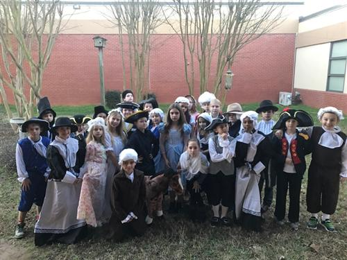 Mrs. Maher's class dressed to represent their own historical figure.