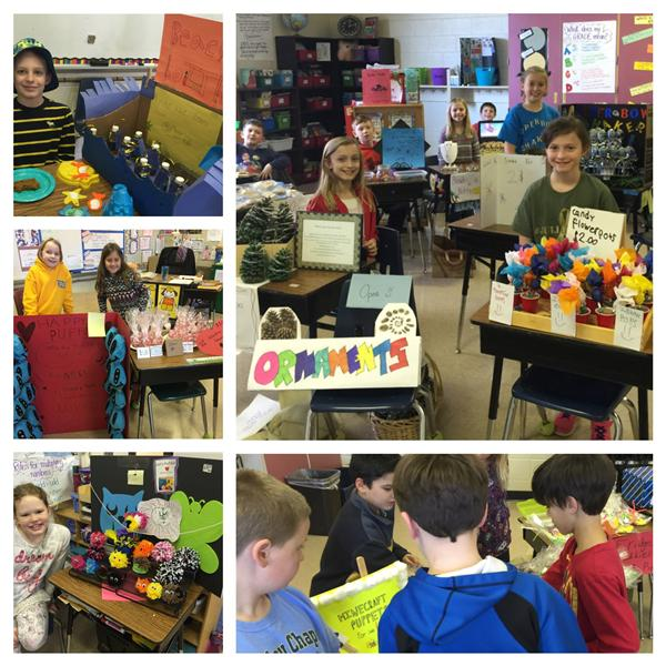 "Third Grade Students participate in ""Market Day"""