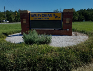 school sign- before