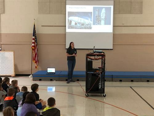 Wesley Chapel students in grades 1-5 enjoyed a presentation on the designing, building and launching of rockets.