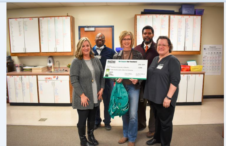 Congratulations! Mrs. Tolleson received a Union Power Coop. Bright Ideas Grant