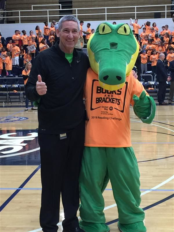 Chomper & Mr. Childers showing spirit at Books & Brackets