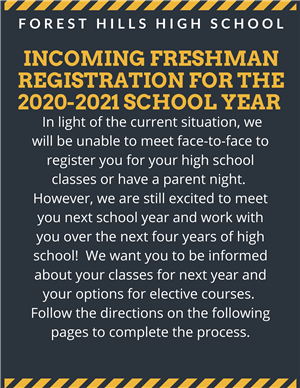 Registration for next year's classes for 9th graders can now begin. Follow the directions on the following images.