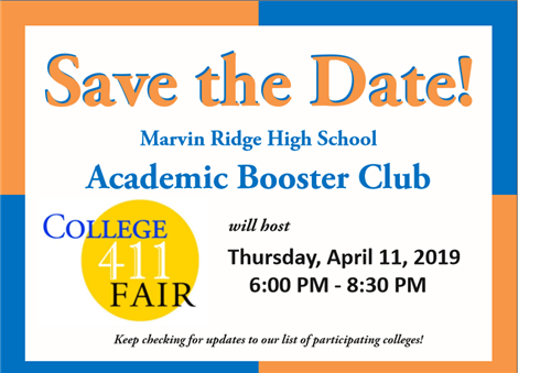 Save the Date College 411 Fair