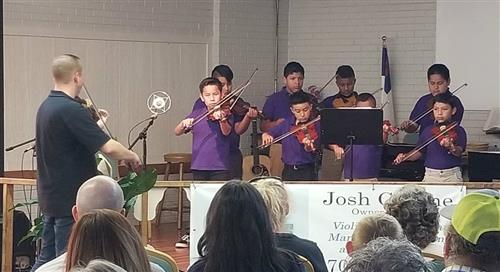 "Strings II Class performed at the ""Old Hargett Store"" near Marshville"