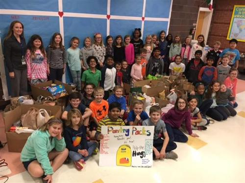 Weddington Elementary's 4th Grade AIG Reading Classes Participate in a Community Service Project