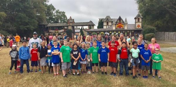Brook Kramb's Fourth and Fifth Grade AIG students visit the Renaissance Festival