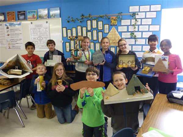 New Town AIG Students Learn About Ancient Egypt