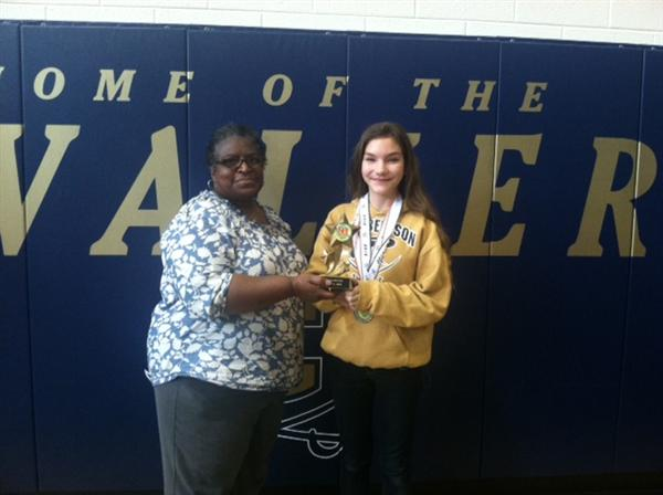 Emily Gladden, Math 24 Challenge winner pictured with Artez Watts.