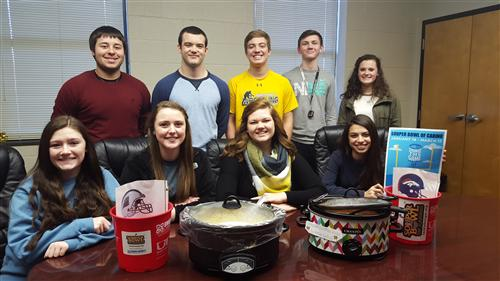 Leadership Team from FCA organized a soup lunch for staff and a raffle for staff and students.