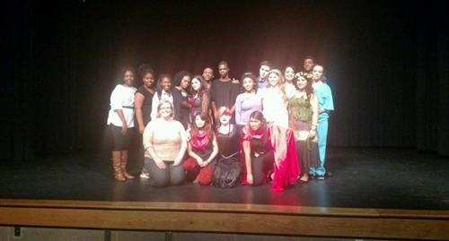 Photo of theatre group from FHHS at NCTC