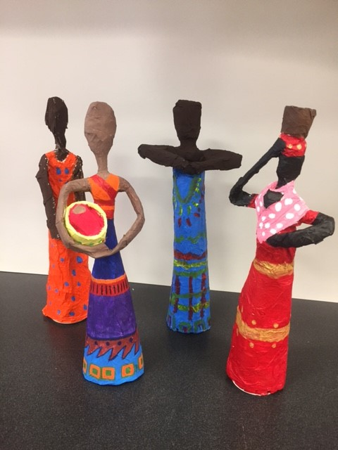 Dolls created in African style