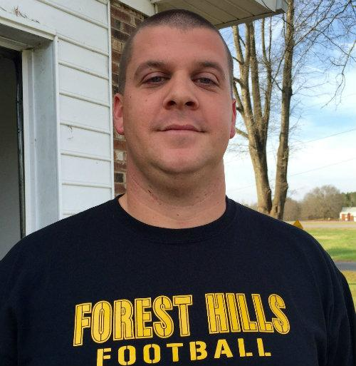 Photo of new Forest Hills Head Football Coach Cory Smith