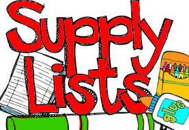Supply lists for 2016-2017