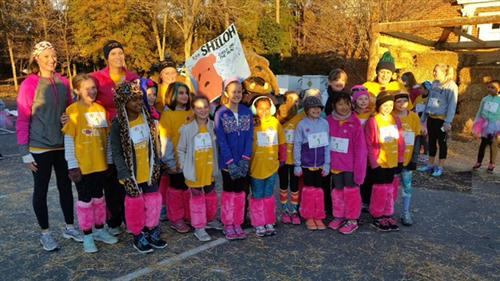 Shiloh's Girls on the Run team races to success!