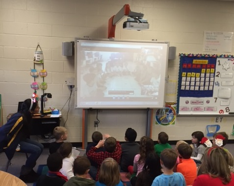 First Graders Skype at Shiloh