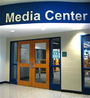 Front doors to the Media Center